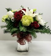 Merry and Bright! Christmas Vase Arrangement