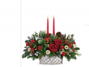 Merry and Bright Mercury glass center piece in Fairfield, OH | NOVACK-SCHAFER FLORIST