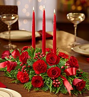 Merry and Bright Red Centerpiece