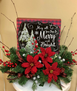 Merry and Bright Silk Arrangement in Springfield, IL | FLOWERS BY MARY LOU
