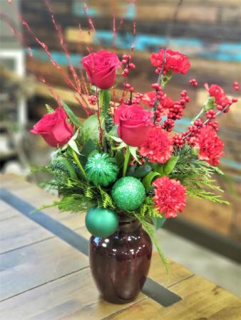 Merry and Bright Vase Arrangement