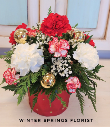Merry & Bright Holiday Arrangement