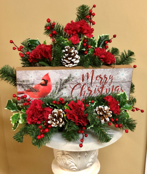 Merry Christmas 2 Gifts In 1 in Springfield, IL | FLOWERS BY MARY LOU