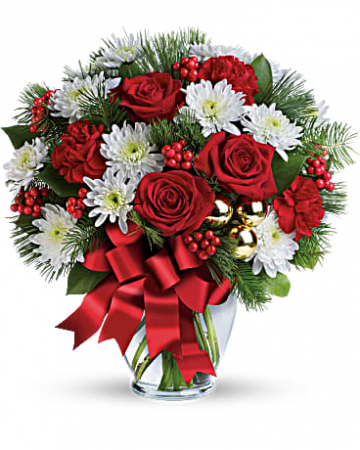 Merry Christmas Bouquet Christmas Vase