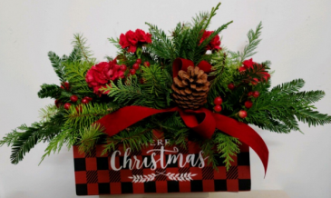 Merry Christmas Box Fresh flower arrangement