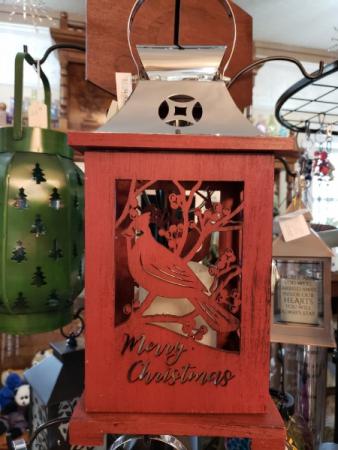 Merry Christmas Cardinal lantern