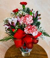 Merry Christmas Cup Flower Arrangement