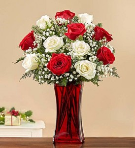Merry Christmas Rose Bouquet