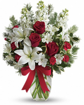 merry christmas to you vase arrangement