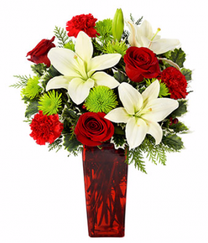Merry Christmas Wishes Bouquet CHRISTMAS in Las Vegas, NV | Blooming Memory