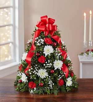 Merry Christmas Wishes Boxwood Tree in Stevens, PA | BLOOMING TIME FLORAL DESIGN