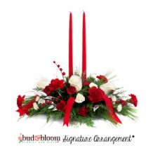 Merry Christmas Wishes Bud & Bloom Signature Arrangement