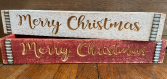 Merry Christmas Wooden Box