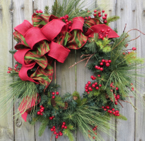 Merry Christmas Wreath Fresh Wreath