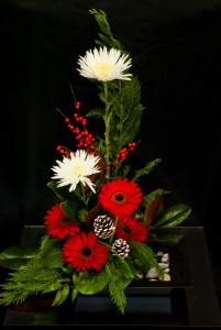 Merry Contemporary Christmas High Style Arrangement