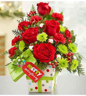 Merry Everything™ Present Bouquet Arrangement in Croton On Hudson, NY | Cooke's Little Shoppe Of Flowers