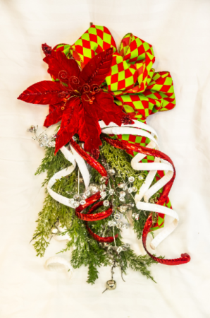 Merry Grinchmas! Silk Door Swag in Corner Brook, NL | The Orchid