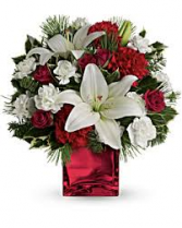 Merry Holiday Bouquet Christmas Arrangement