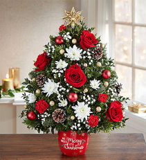 Merry Little Christmas™ Holiday Flower Tree® Arrangement