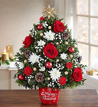Merry Little Christmas™ Holiday Flower Tree® Arrangement