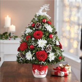 Merry Little Christmas Holiday Flower Tree holiday
