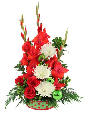 Merry Little Christmas Arrangement in Killeen, TX | MARVEL'S FLOWERS