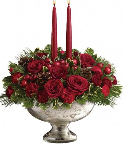 Merry Mercury All-Around Floral Arrangement