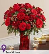 Merry Merry- Red vase design
