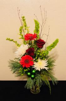 A Grand Holiday Vase Arrangement