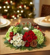 Merry Modern Centerpiece by Enchanted Florist of Cape Coral