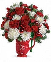 Merry Mug Arrangement Holiday Keepsake Arrangement