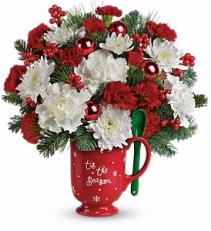 Merry Mug Christmas Arrangement