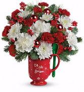 Merry Mug Christmas Bouquet