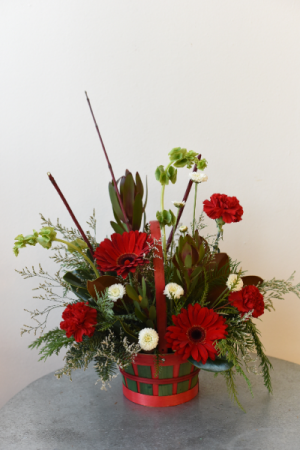 Merry Red and Green Basket  in La Grande, OR | FITZGERALD FLOWERS