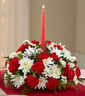 MERRY TIMES CENTERPIECE FRESH HOLIDAY FLOWERS