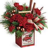 Merry Vintage Christmas Bouquet arrangement
