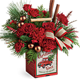 Merry Vintage Christmas Bouquet arrangement