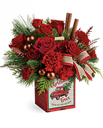 Merry Vintage Christmas Bouquet Christmas Flowers