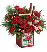 Merry Vintage Christmas Floral Arrangement