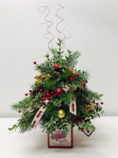 Merry Vintage Christmas Tree Christmas Arrangement