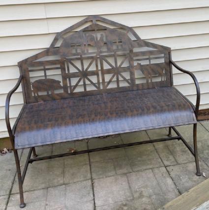 Metal Barn Bench