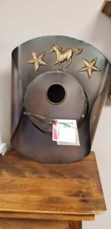 Metal Cowboy Birdhouse Mother's Day