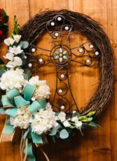 Metal Cross Wreath  Wreath