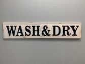 Metal Farmhouse Sign 'Wash & Dry'
