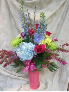 Metal French Bucket Everyday Floral