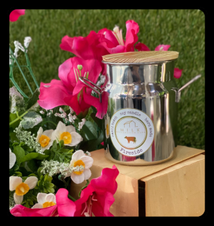 Metal Milk Can Candle  in Bryan, TX | NAN'S BLOSSOM SHOP