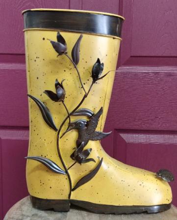 Metal planter boot Planter