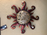 Metal Sun Wall Hanging 18