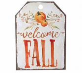 Metal Tag Fall Sign
