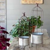 Metal Trellis Planters, Set of 2 Gifts
